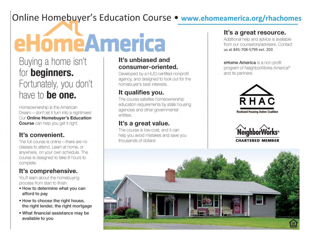 Online Homebuyer's Education Course Information - www.ehomeamerica.org/rhachomes